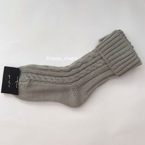 Urban Outfitters Cuffed Cable Knit Socks